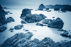 Reef rock with long exposure Stock Images
