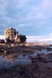 Reef on the seashore. Reef  on seacaost , angle sea, south australia, dusk Royalty Free Stock Photos