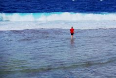 Reef Walking, Niue Royalty Free Stock Photography