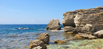 Reefs along the Mediterranean transparent Royalty Free Stock Images