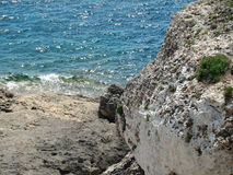 Reefs. Cliffs on the coast of the Malorca Island southeast Stock Photo