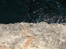 Reefs. Cliffs on the coast of the Malorca Island southeast Stock Photography