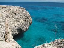Reefs. Cliffs on the coast of the Malorca Island southeast Stock Images