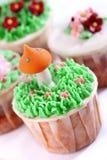 Reeks 01 van Cupcake Royalty-vrije Stock Afbeelding