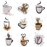 Reeks 1 van de koffie Stock Afbeeldingen