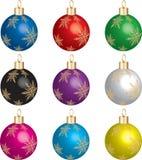 Reeks 1 van het Ornament van Kerstmis stock illustratie