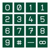 Reeks 1 van het Pictogram van Math Stock Afbeeldingen