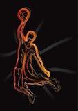 Reeks 1 van het Silhouet van het basketbal Royalty-vrije Stock Foto's