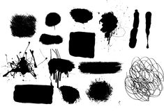 Reeks 2 van Grunge Stock Afbeelding