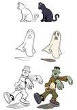 Reeks 2 van Halloween Royalty-vrije Stock Afbeeldingen
