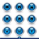 Reeks 2 van het pictogram - de huisdiensten royalty-vrije illustratie