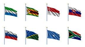 Reeks 21 van de Vlag van de wereld royalty-vrije illustratie