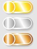 Reeks 3 cirkel en cilinderetiketten Stock Afbeelding