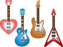 Reeks 3 van de gitaar Stock Foto's