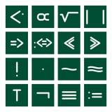 Reeks 4 van het Pictogram van Math Stock Afbeelding