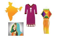 Reeks 5 â India van het land Stock Foto's