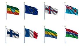 Reeks 8 van de Vlag van de wereld royalty-vrije illustratie