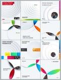 reeks Abstract ontwerp van lichte kleurrijke vectorelementen voor moderne achtergrond met cirkelsschaduwen voor het bedrijfs bran stock illustratie