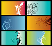 Reeks abstracte achtergronden Stock Foto
