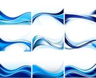 Reeks abstracte achtergronden Stock Afbeeldingen