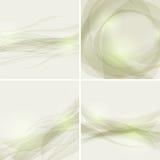Reeks abstracte achtergronden met golven, zieke vector Stock Afbeeldingen