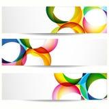 Reeks abstracte banners. Royalty-vrije Stock Foto