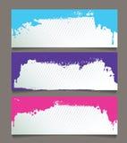 Reeks abstracte banners Stock Afbeelding