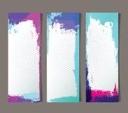 Reeks abstracte banners Royalty-vrije Stock Foto