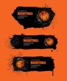 Reeks abstracte banners voor basketbal Royalty-vrije Stock Foto