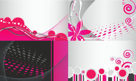 Reeks abstracte bloemen bedrijfsachtergronden Royalty-vrije Stock Foto