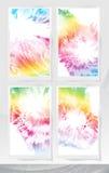 Reeks abstracte bloemenachtergronden Royalty-vrije Stock Foto's