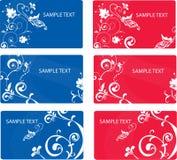 Reeks abstracte bloemenkaarten met plaats voor uw t Stock Foto