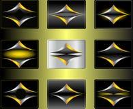 Reeks abstracte emblemen stock illustratie