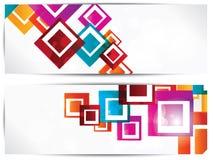 Reeks abstracte geometrische achtergronden royalty-vrije illustratie