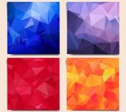 Reeks abstracte geometrische achtergronden vector illustratie