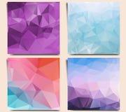 Reeks abstracte geometrische achtergronden stock illustratie