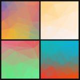Reeks abstracte geometrische driehoekenachtergronden vector illustratie