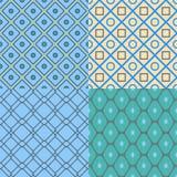 Reeks Abstracte geometrische patronen Vector naadloze texturen Royalty-vrije Stock Foto
