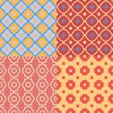Reeks Abstracte geometrische patronen Vector naadloze texturen Royalty-vrije Stock Fotografie