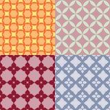 Reeks Abstracte geometrische patronen Versie met steekproeftekst Royalty-vrije Stock Fotografie