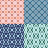 Reeks Abstracte geometrische patronen Versie met steekproeftekst Royalty-vrije Stock Foto