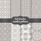 Reeks abstracte geometrische patroonachtergronden Royalty-vrije Stock Afbeelding