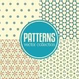 Reeks abstracte geometrische patroonachtergronden Stock Fotografie