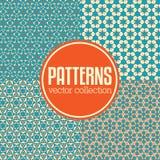 Reeks abstracte geometrische patroonachtergronden Stock Foto's