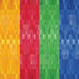 Reeks abstracte geometrische veelhoekige banners - eps10-vector stock illustratie