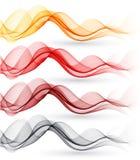 Reeks abstracte golven Vector illustratie vector illustratie