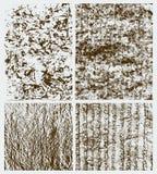 Reeks abstracte grungeachtergronden Stock Afbeeldingen