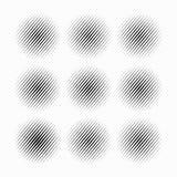 Reeks Abstracte halftone gestippelde cirkels, vector Stock Fotografie