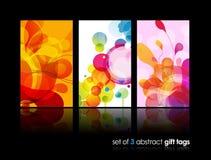 Reeks abstracte kleurrijke cirkelillustraties. stock illustratie