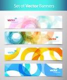 Reeks abstracte kleurrijke Webkopballen. stock illustratie
